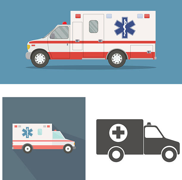 Ambulance vector art illustration