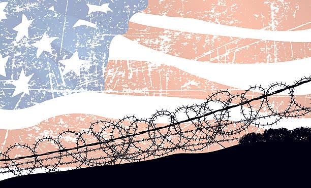 En Norteamérica, de guerra fondo de bandera de los Estados Unidos - ilustración de arte vectorial