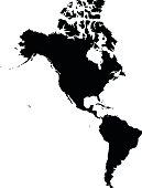 America black map on white background vector