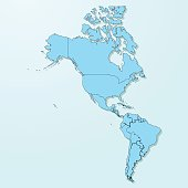 America blue map on degraded background vector