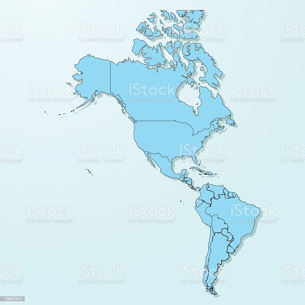 America blue map on degraded background vector vector art illustration