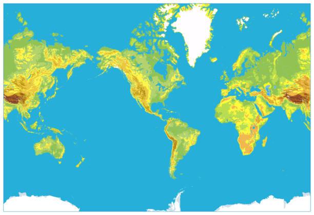美國中心詳細物理世界地圖 - 烏克蘭 幅插畫檔、美工圖案、卡通及圖標