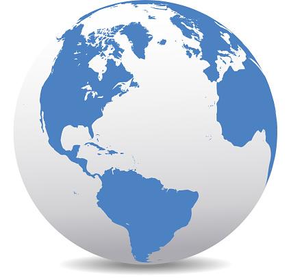 America, Europe, Africa Global World
