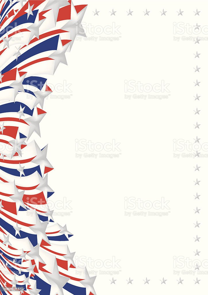 America Flag royalty-free stock vector art