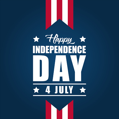 America Independence Day Vector Design Stock Illustration - Download Image Now