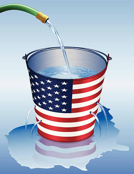America Leaking vector art illustration