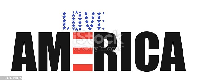 America love logo. Vector isolsted sign with love america illustration.