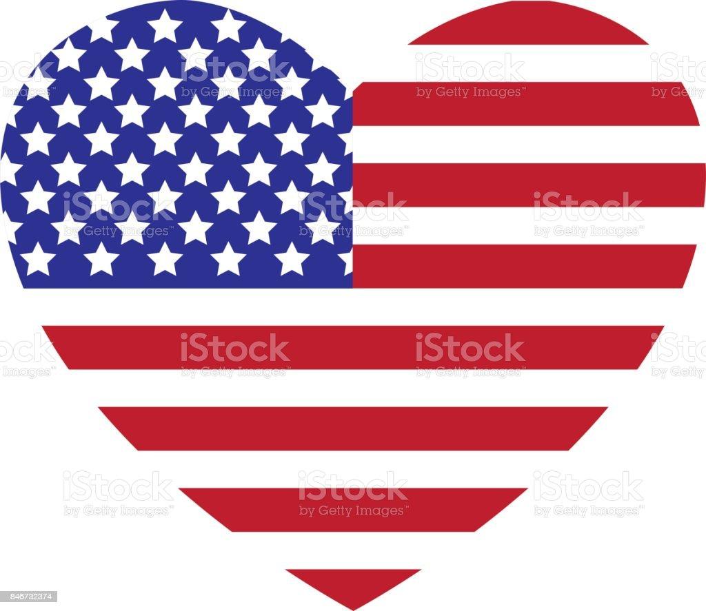 America Love vector art illustration