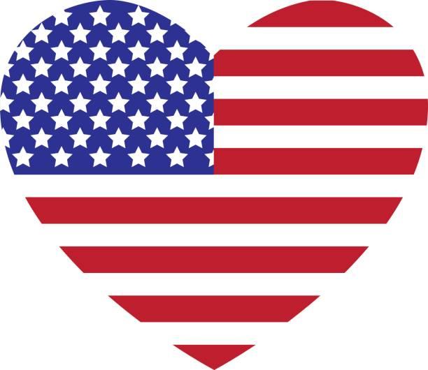 American Flag Heart Illustrations, Royalty-Free Vector ...