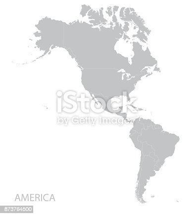 Americas map. Vector