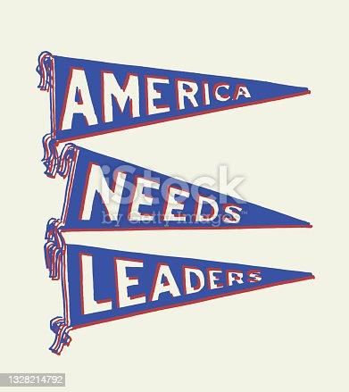 America Needs Leaders Pennants