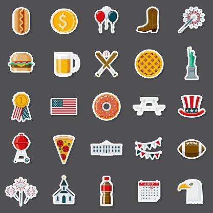 America Sticker Set