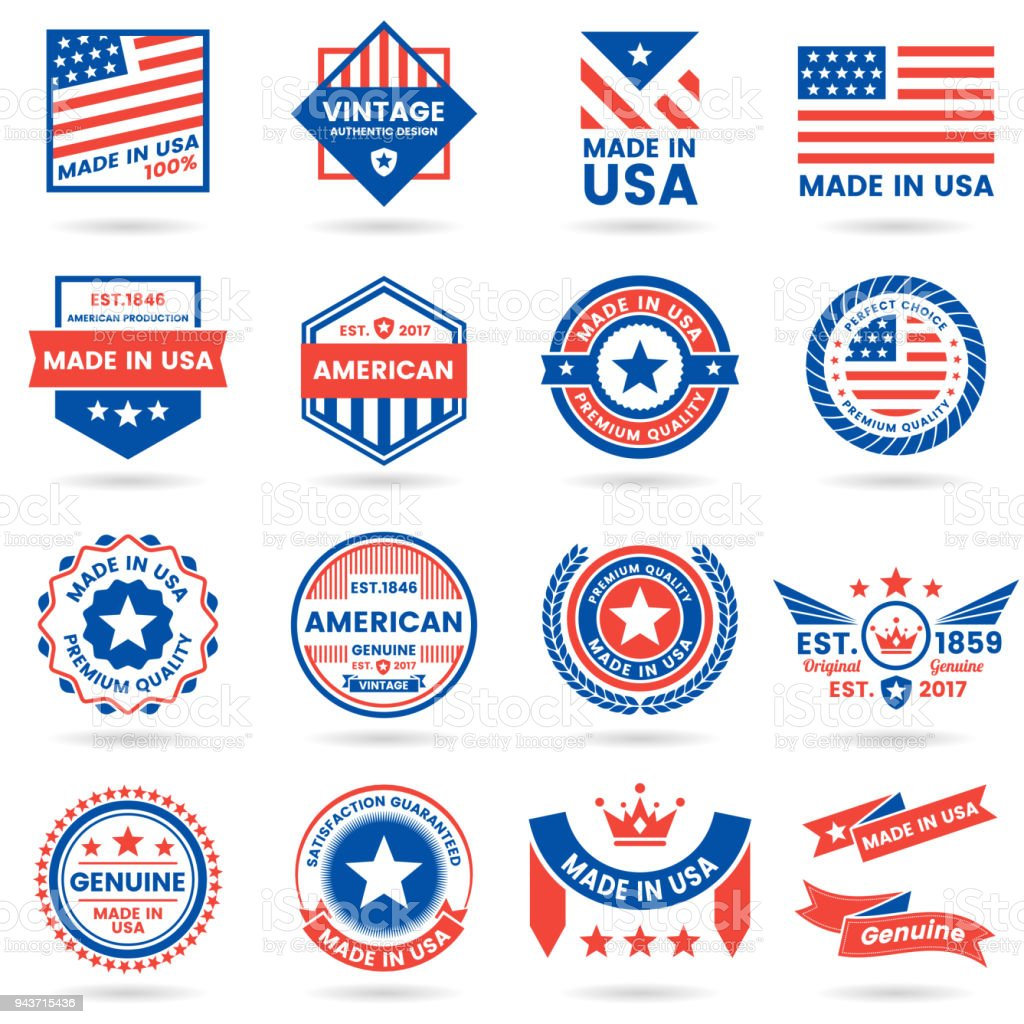 America Vector label for banner royalty-free america vector label for banner stock illustration - download image now