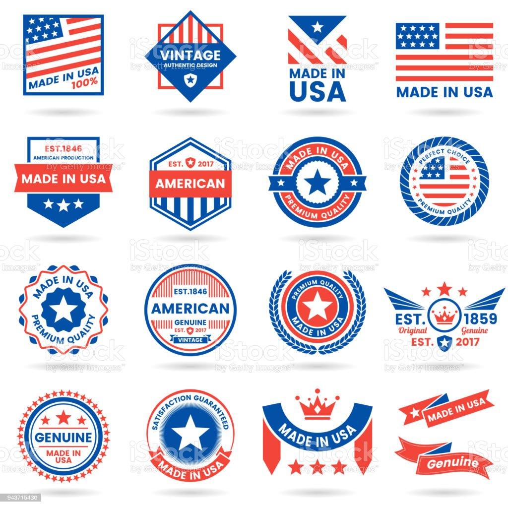 Amerika-Vektor-Label für banner – Vektorgrafik
