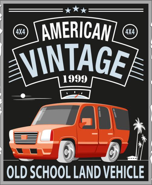 stockillustraties, clipart, cartoons en iconen met amerikaanse 4x4 - 1990 1999