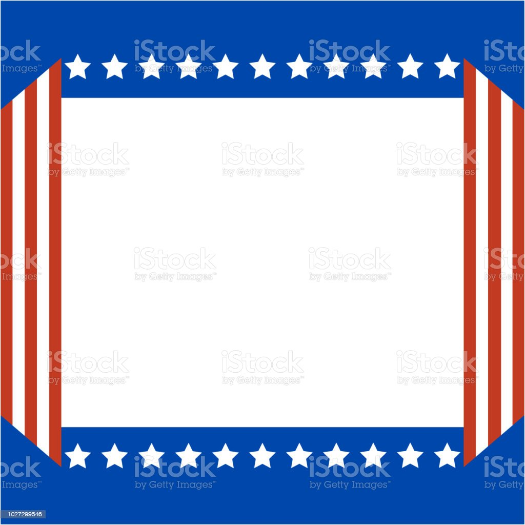 american abstract flag patriotic border stock vector art more