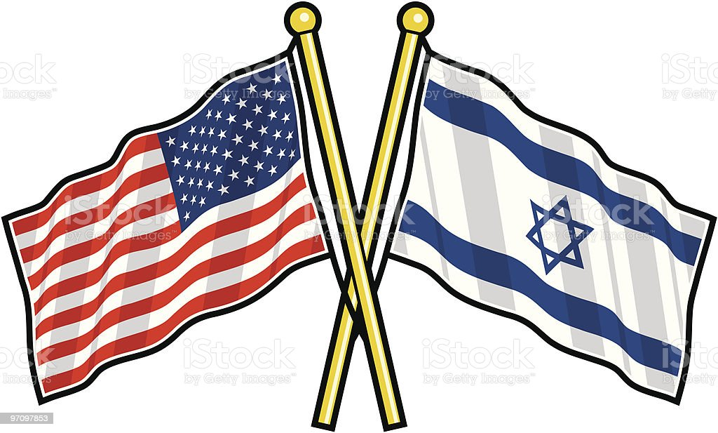 American and Israeli Friendship flag royalty-free american and israeli friendship flag stock vector art & more images of american culture