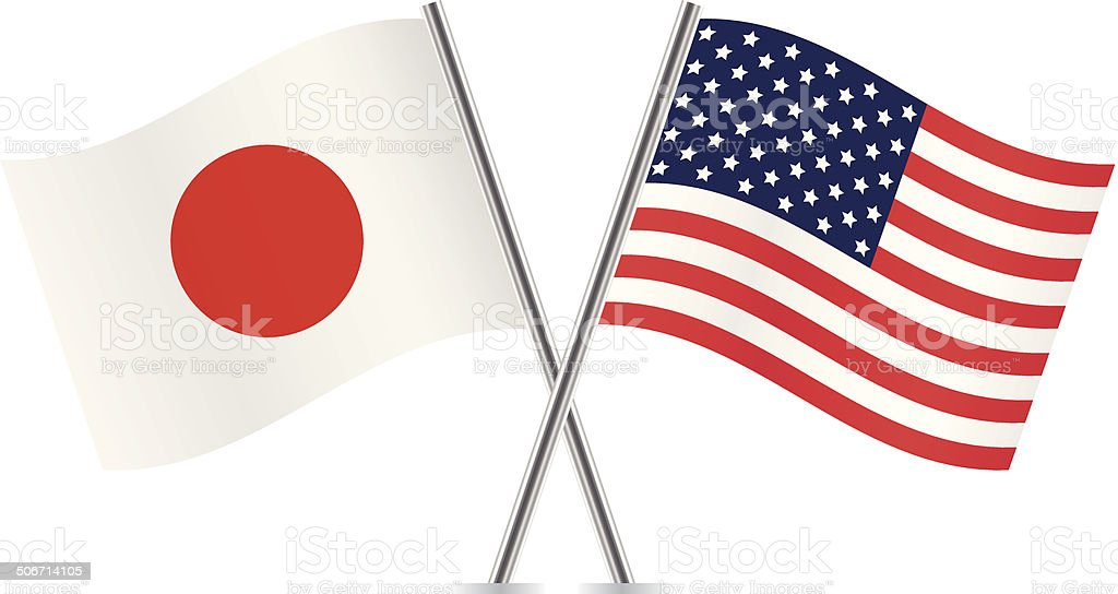 american and japanese flags vector stock vector art amp more