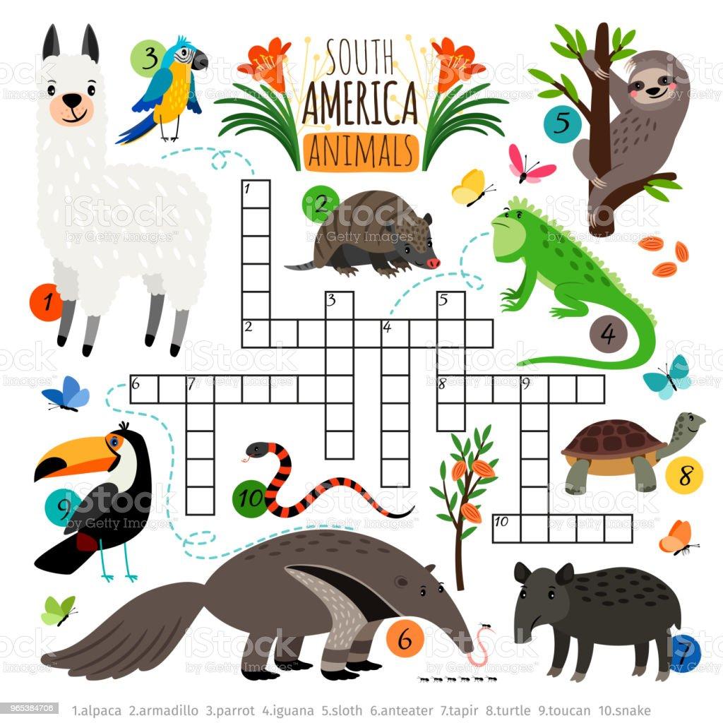 American animals crossword - Grafika wektorowa royalty-free (Bez ludzi)