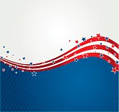 Vector illustration American background. EPS10. Contains transparency.