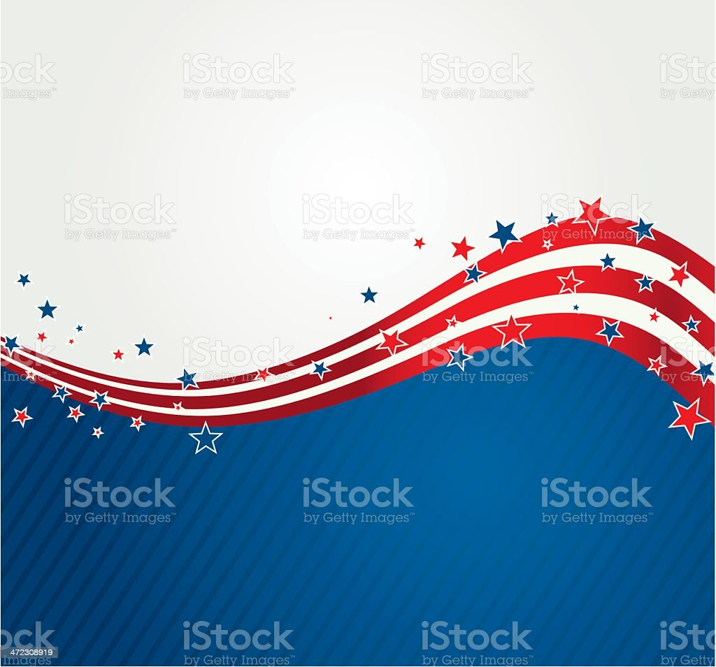 American background vector art illustration