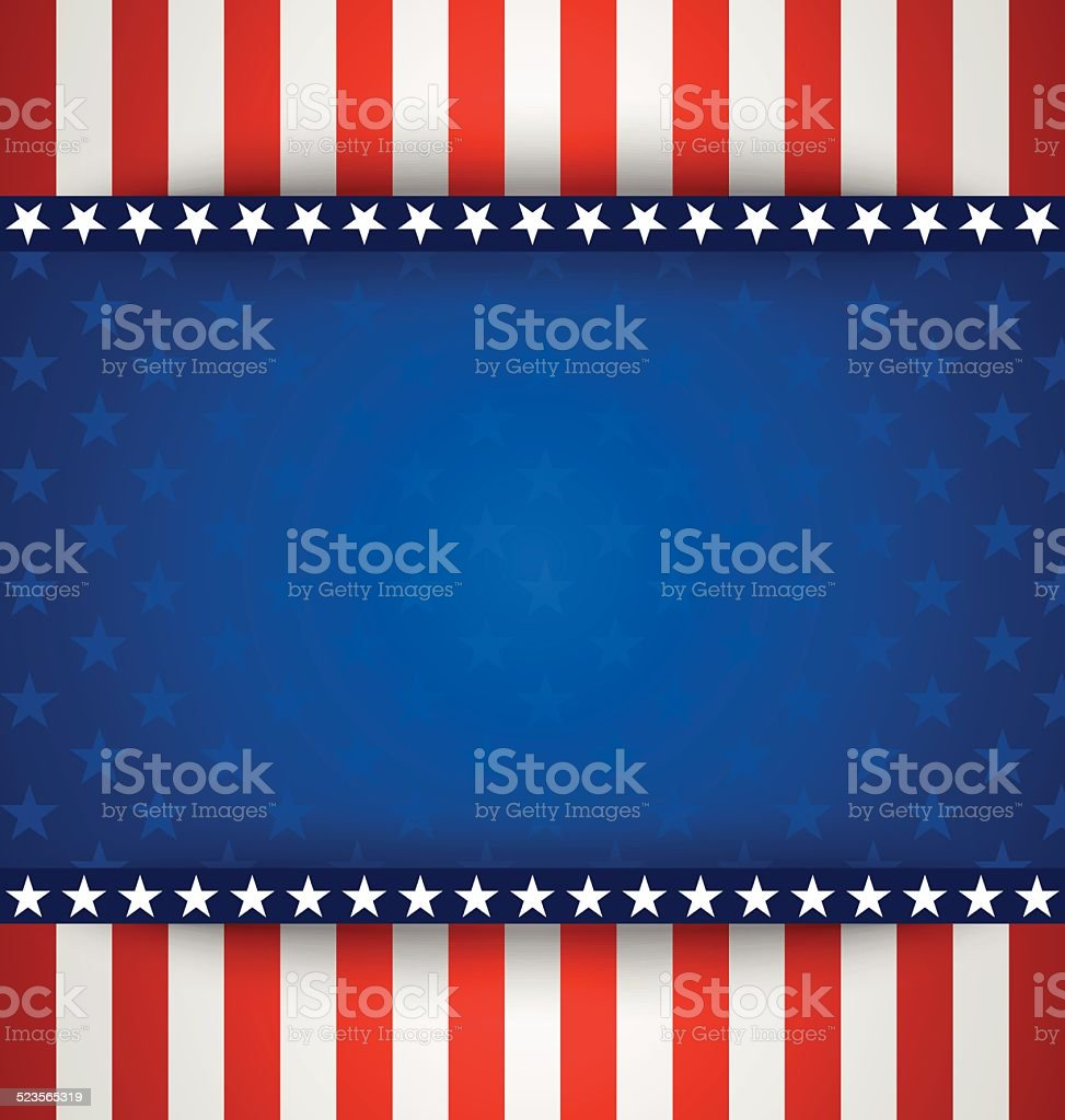 American background vector art illustration