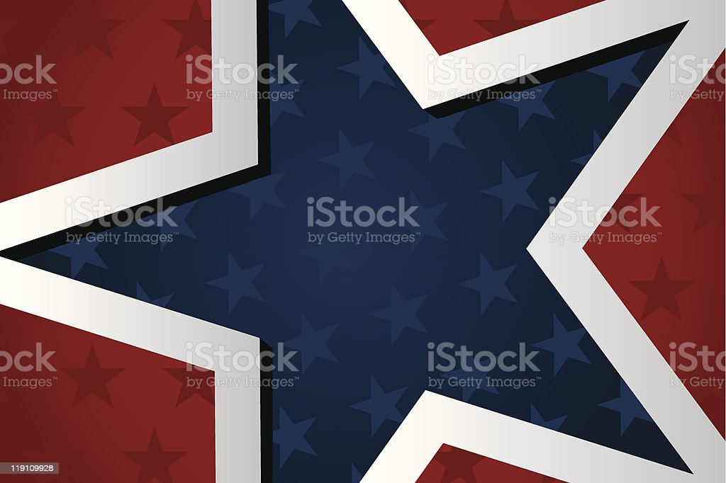 american backround vector art illustration
