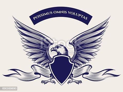 Ilustración de Mascota Del águila Calva Americana y más banco de ...