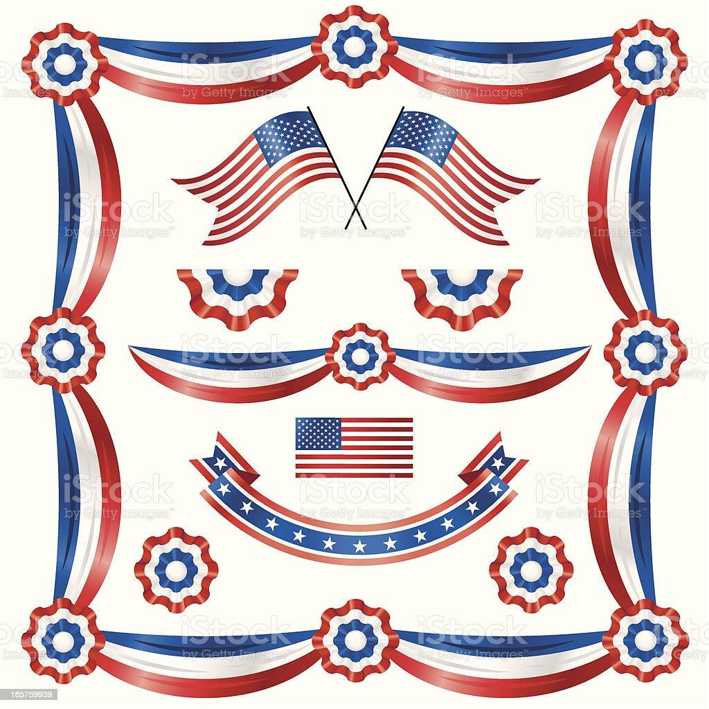 American Bandstand vector art illustration