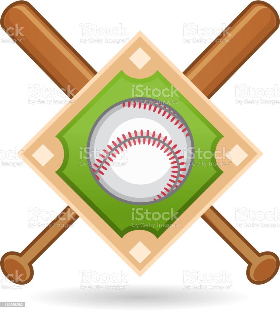 American Baseball Insignia vector art illustration