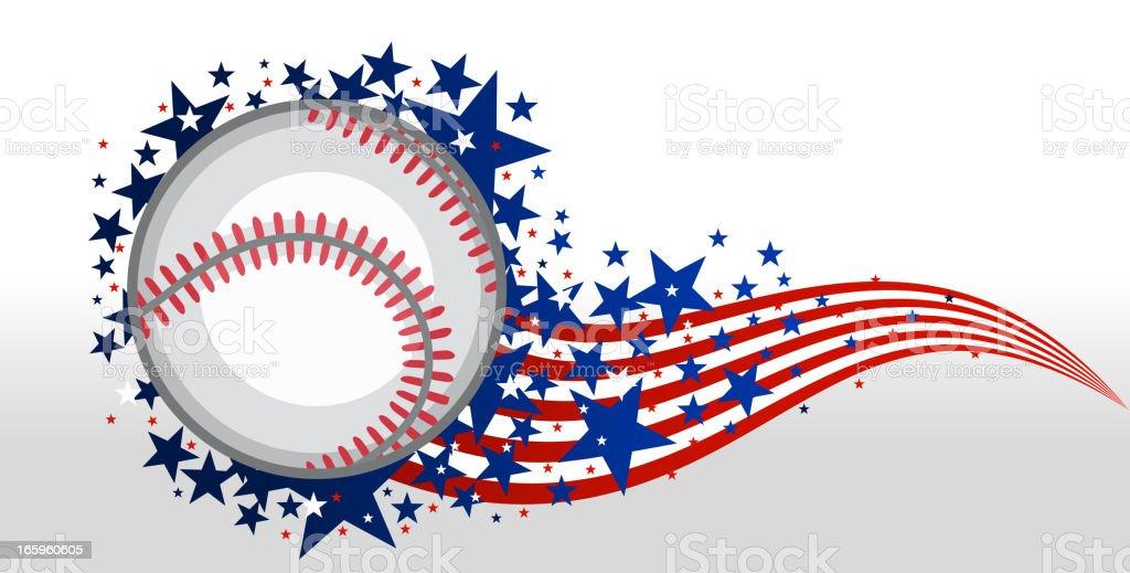 American Baseball Magic with stars vector illustration.