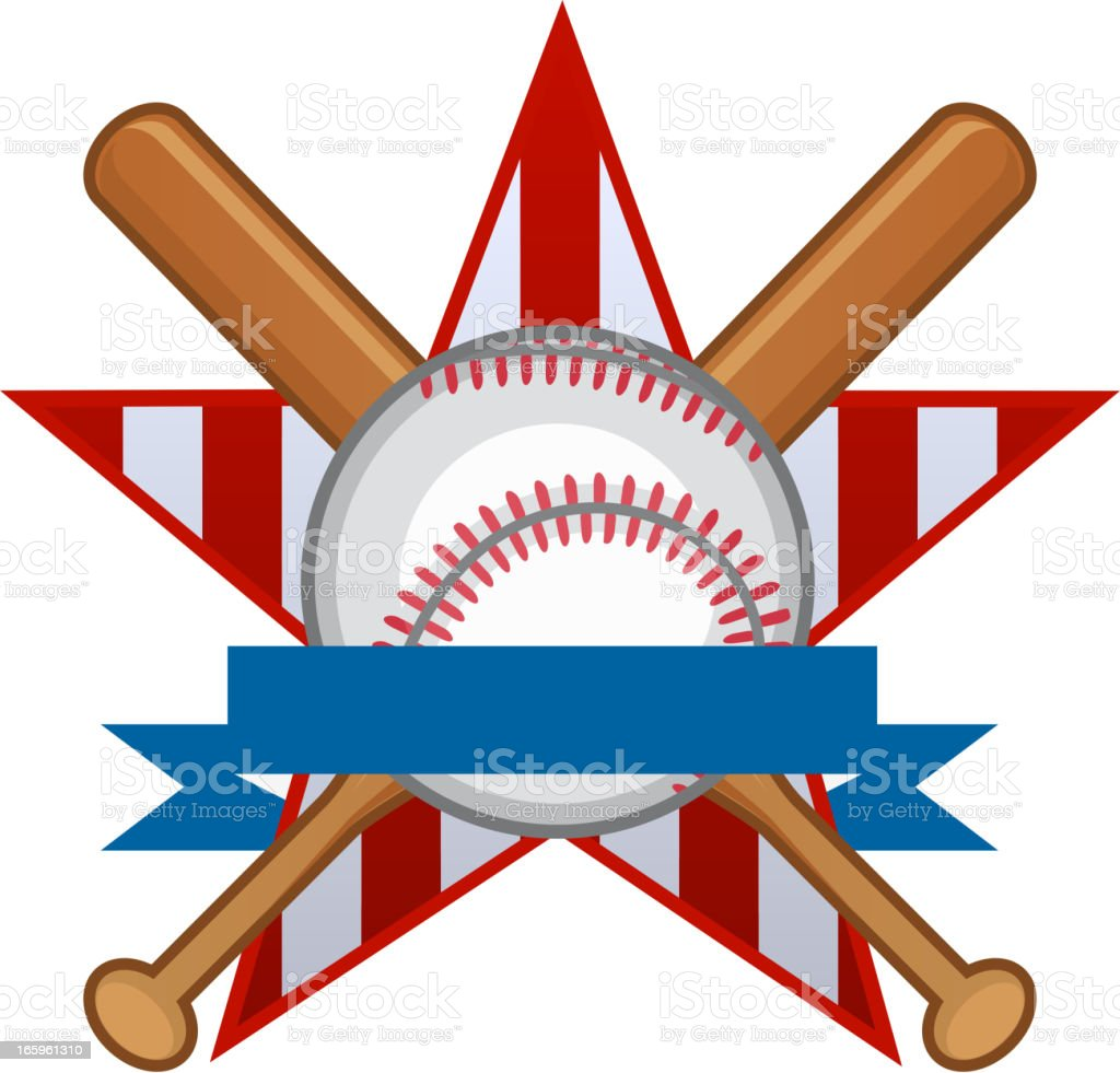 American Baseball Star Insignia vector illustration.