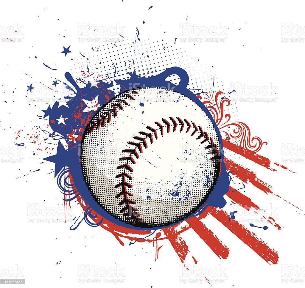 American Baseball royalty-free stock vector art