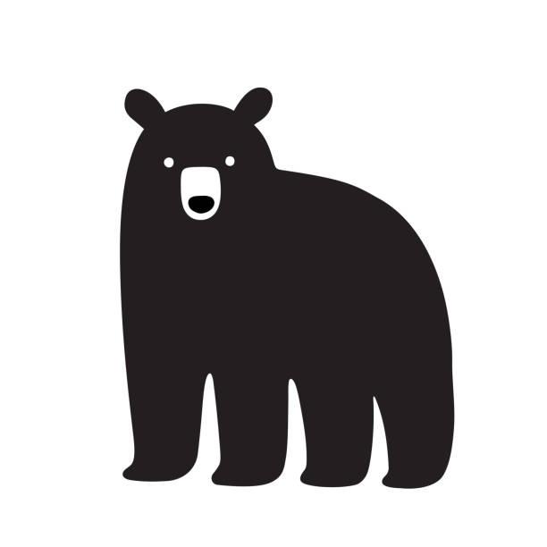 american black bear drawing - bear stock illustrations