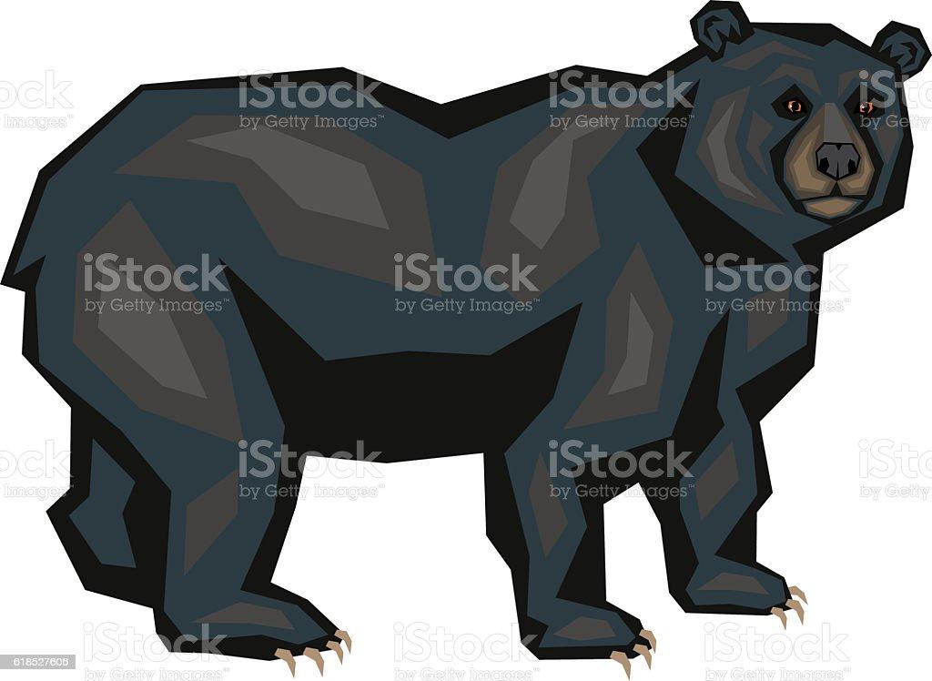 royalty free american black bear clip art vector images rh istockphoto com black bear clip art images black bear outline clip art