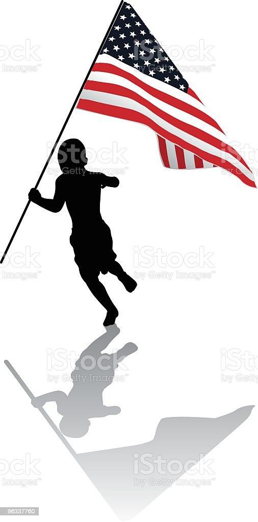American chłopiec - Grafika wektorowa royalty-free (4-go lipca)
