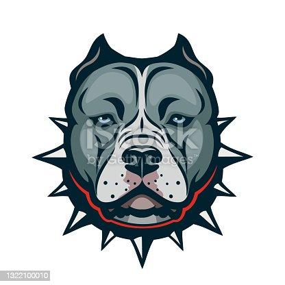 istock American Bully dog isolated vector illustration 1322100010