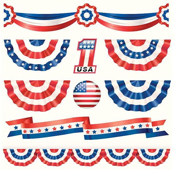 american bunting - us flag 幅插畫檔、美工圖案、卡通及圖標