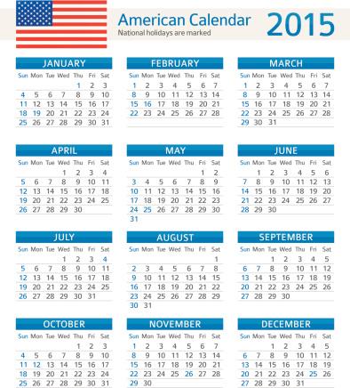American Calendar 2015 - Illustration