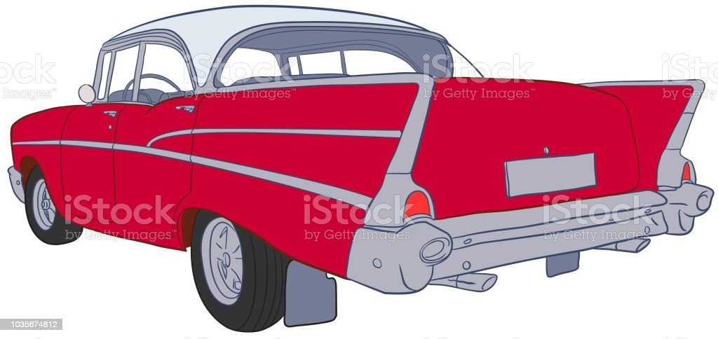 American Car Sketch Vector vector art illustration