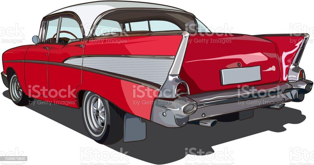 American Car Sketch Vector vector art illustration