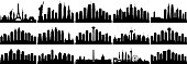 American cities. All buildings are complete and moveable. From left to right; the world, New York, Los Angeles, Chicago, San Fransisco, San Diego, Philadelphia, Seattle, San Antonio, Dallas, Houston, Austin, Washington DC, Las Vegas, and Boston.