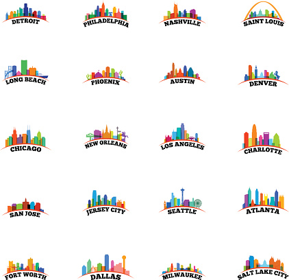 American Cityscapes Overlay