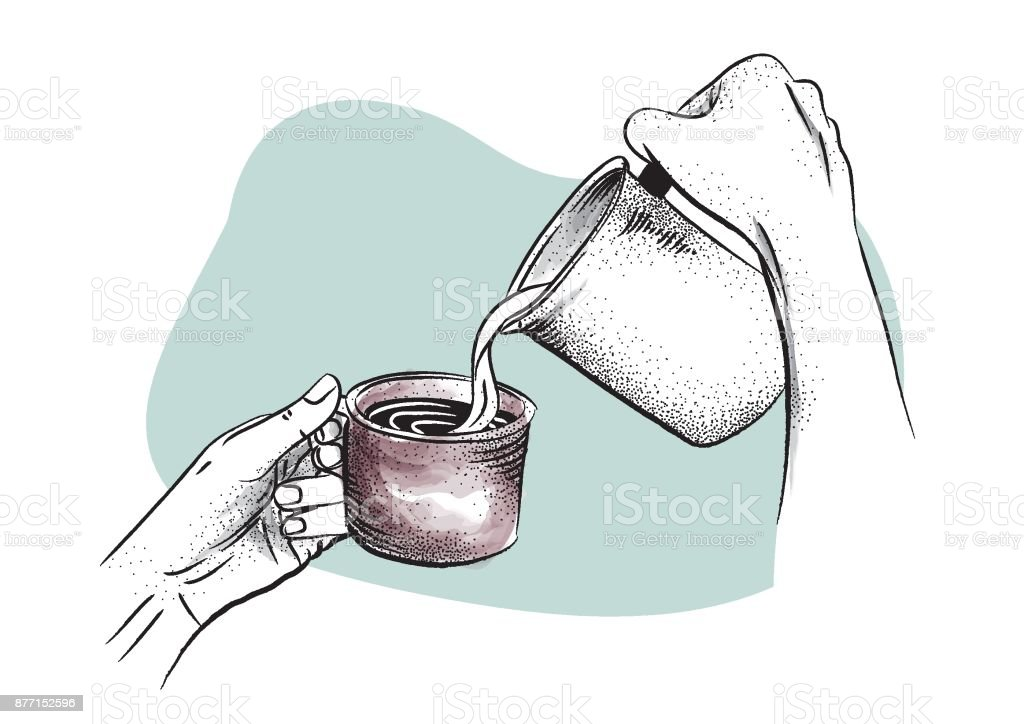Caffè Americano / Barista vector art illustration