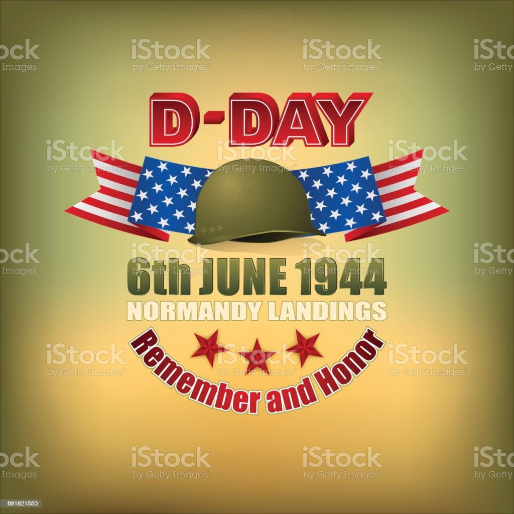 American D-Day, celebration vector art illustration