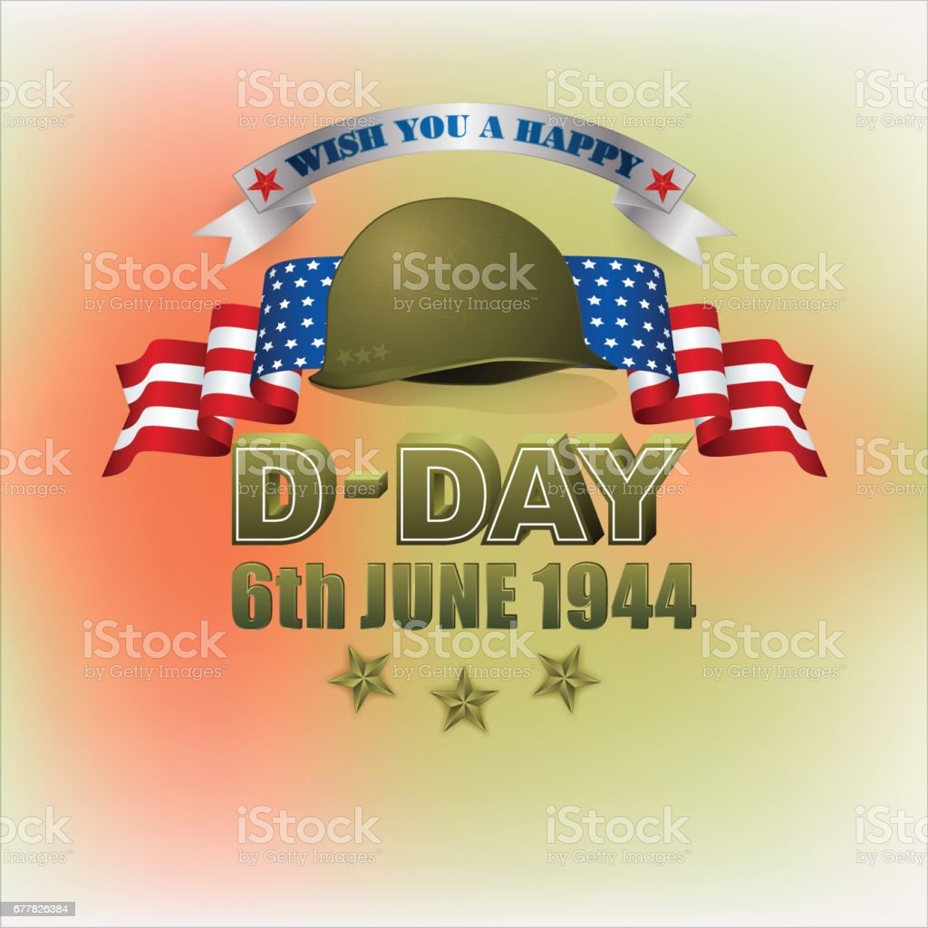 American D-Day, holiday vector art illustration