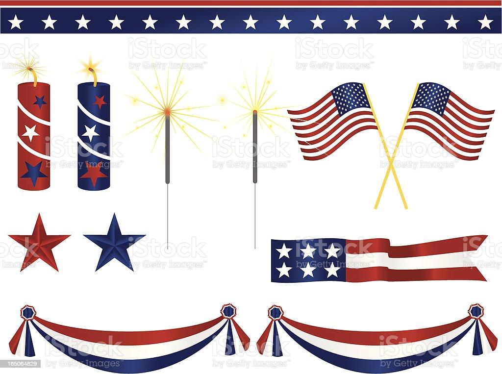 American decoración - ilustración de arte vectorial