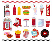 istock American diner watercolor style illustration set material 1299434238
