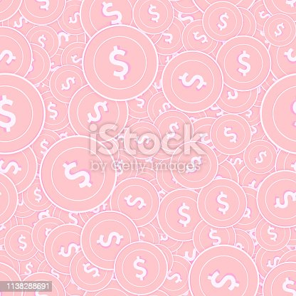 istock American dollar copper coins seamless pattern. Mes 1138288691