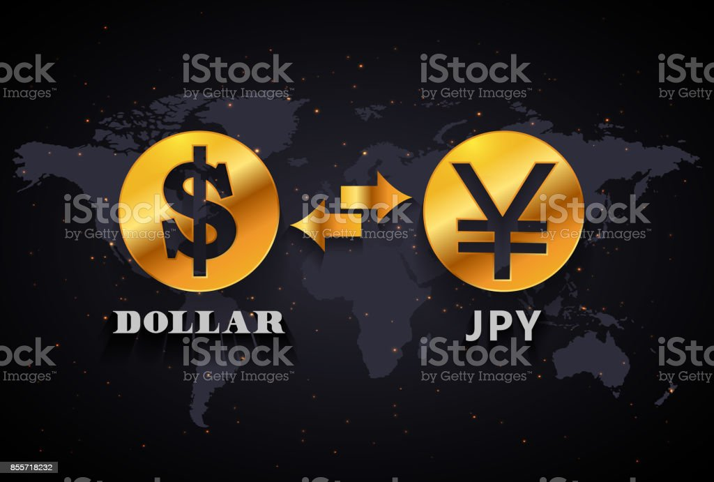 American Dollar To Japanese Yen Currency Exchange Infographic